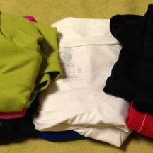 6 short athletic tops