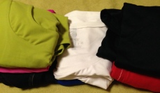 6 short athletic tops